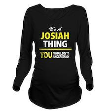 Cute Josiah Long Sleeve Maternity T-Shirt