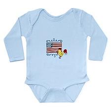 American Flag farming Chicken Body Suit