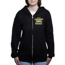 Funny Luciano Women's Zip Hoodie