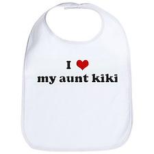 I Love my aunt kiki Bib