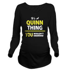 Cute Quinn Long Sleeve Maternity T-Shirt