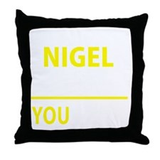 Funny Nigel Throw Pillow