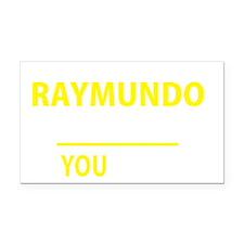 Cute Raymundo Rectangle Car Magnet
