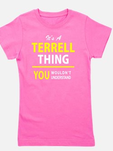 Cute Terrell Girl's Tee