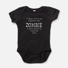 Outrun The Zombie 2 Baby Bodysuit
