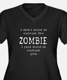 Outrun The Zombie 2 Plus Size T-Shirt