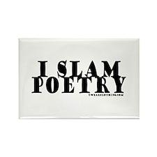 I Slam Poetry Rectangle Magnet