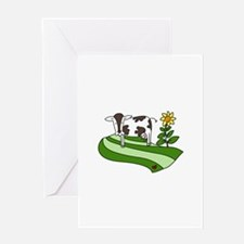 Dairy Farm Cow Cattle Country Greeting Cards
