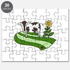 Dairy Farm Cow Cattle Country Puzzle