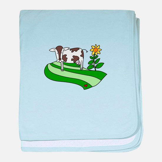 Dairy Farm Cow Cattle Country baby blanket