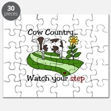 Cow Country Watch your step Puzzle