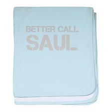 better-call-saul-cap-light-gray baby blanket
