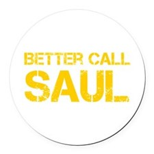 better-call-saul-cap-yellow Round Car Magnet