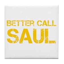 better-call-saul-cap-yellow Tile Coaster