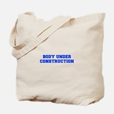 BODY-UNDER-COSTRUCTION-FRESH-BLUE Tote Bag