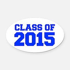 CLASS-OF-2015-FRESH-BLUE Oval Car Magnet