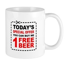Free Beer Special Offer Coupon Mug