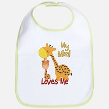 My Mimi Loves Me Giraffe Cotton Baby Bib