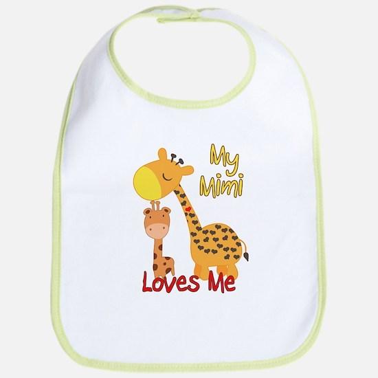 My Mimi Loves Me Giraffe Cotton Baby Bib