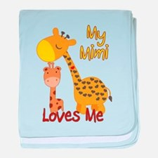 My Mimi Loves Me Giraffe baby blanket