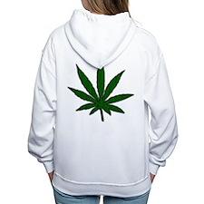 Marijuana Leaf Women's Hooded Sweatshirt