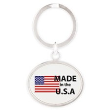 Made in the USA Oval Keychain