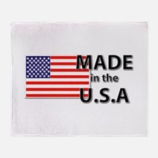 Made in the USA Throw Blanket