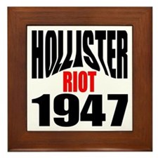 Hollister Riot 1947.png Framed Tile