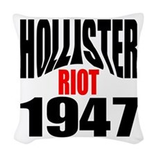 Hollister Riot 1947.png Woven Throw Pillow
