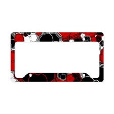 Fantasy Flower Motif License Plate Holder