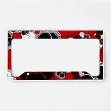 Fantasy Flower Motif License Plate Holder