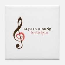 Love the Lyrics Tile Coaster