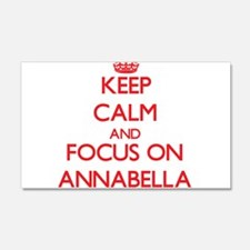 Keep Calm and focus on Annabella Wall Decal