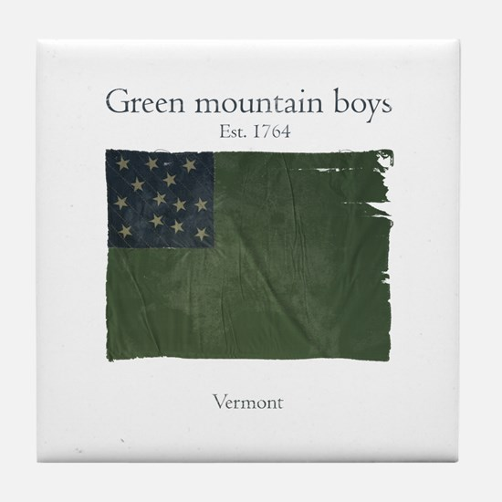 Green Mountain boys Tile Coaster