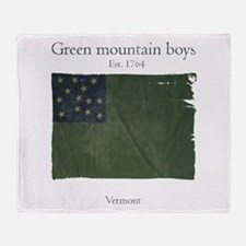 Green Mountain boys Throw Blanket
