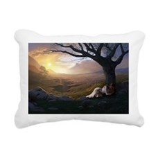 SUNRISE SORROW Rectangular Canvas Pillow