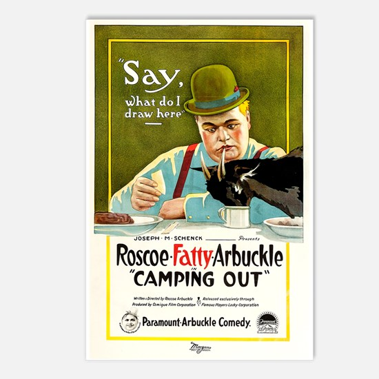Camping Out 1919 Postcards (package Of 8)