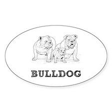 Bulldog Illustration Decal