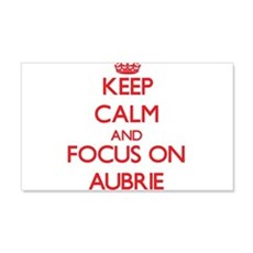 Keep Calm and focus on Aubrie Wall Decal