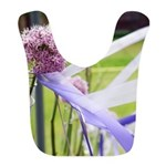 Lavender flower ball with streaming ribbons Bib