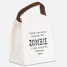 Outrun The Zombie 1 Canvas Lunch Bag