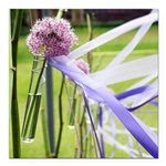 Lavender flower ball with streaming ribbons Square