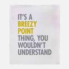Breezy Point Queens NY Thing Throw Blanket
