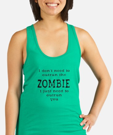 Outrun The Zombie 1 Racerback Tank Top