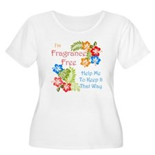 Fragrance Free Design Plus Size T-Shirt
