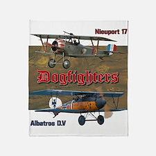 Dogfighters: Nieuport vs Albatros D. Throw Blanket