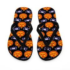 Halloween Pattern Flip Flops
