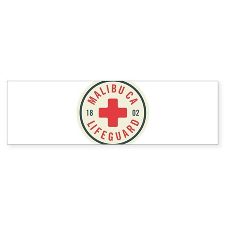Malibu Lifeguard Badge Bumper Sticker