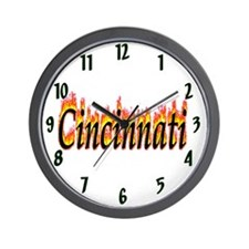 Cincinnati Flame Wall Clock