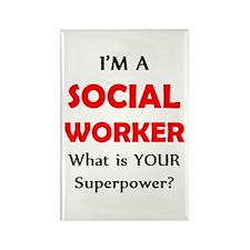 i'm a social worker Rectangle Magnet